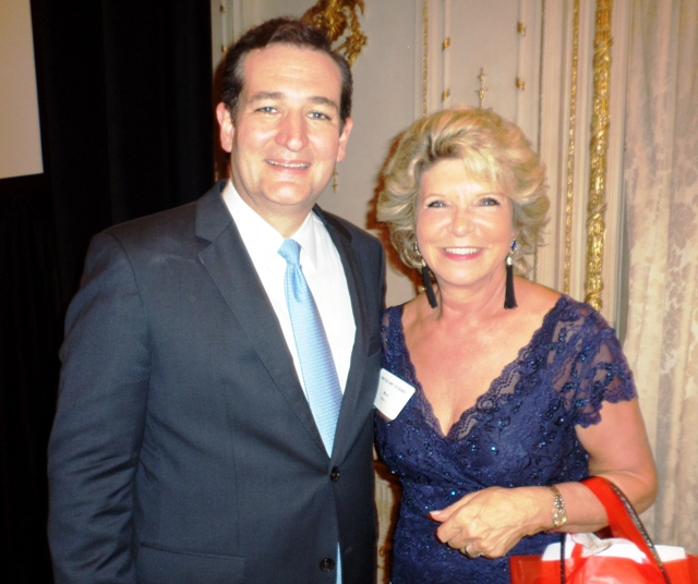 Senator Ted Cruz and Myra at a fundraiser in February, 2014