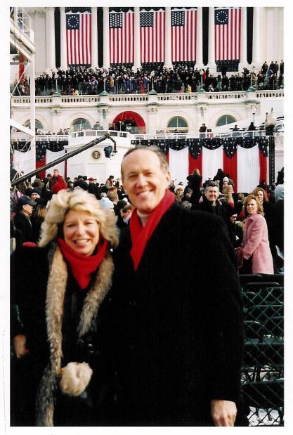 Myra and husband David at second Inauguration of George W. Bush January 20, 2005.